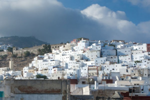 View of Tetouan, near Tangier in Morocco.